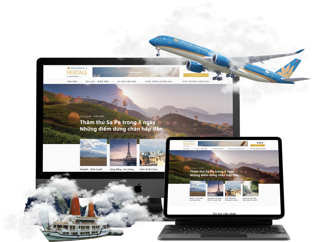 Website Vietnam Airline Heritage
